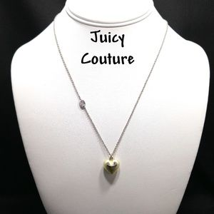 Juicy Couture Gold Tone Heart Necklace